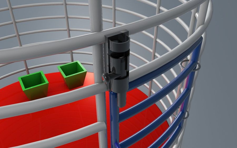 birds cage royalty-free 3d model - Preview no. 2