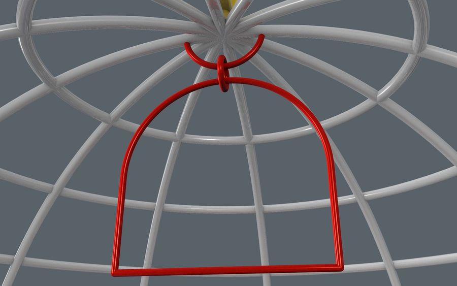 birds cage royalty-free 3d model - Preview no. 5