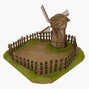 Tecknad väderkvarn 3d model
