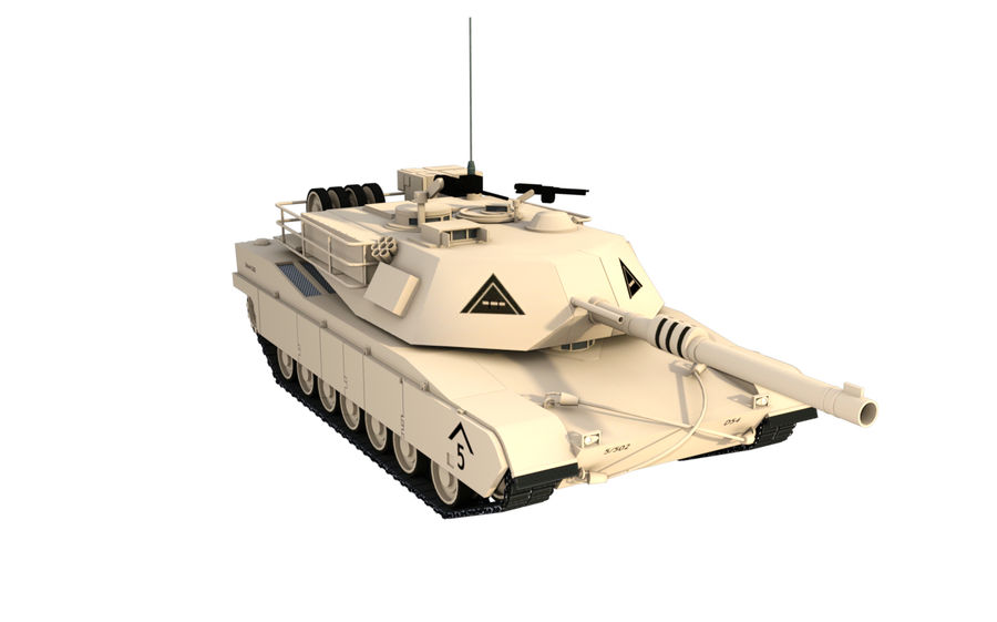 M1A1 ABRAMS royalty-free 3d model - Preview no. 6