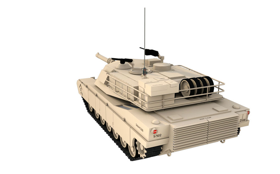 M1A1 ABRAMS royalty-free 3d model - Preview no. 3