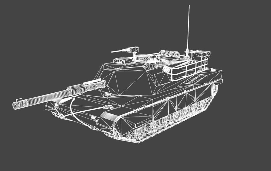 M1A1 ABRAMS royalty-free 3d model - Preview no. 8