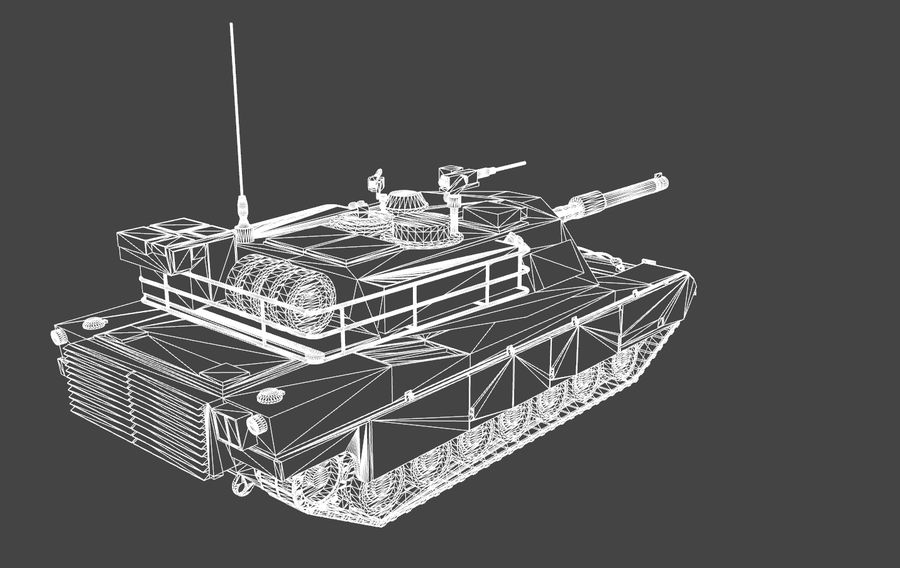 M1A1 ABRAMS royalty-free 3d model - Preview no. 12