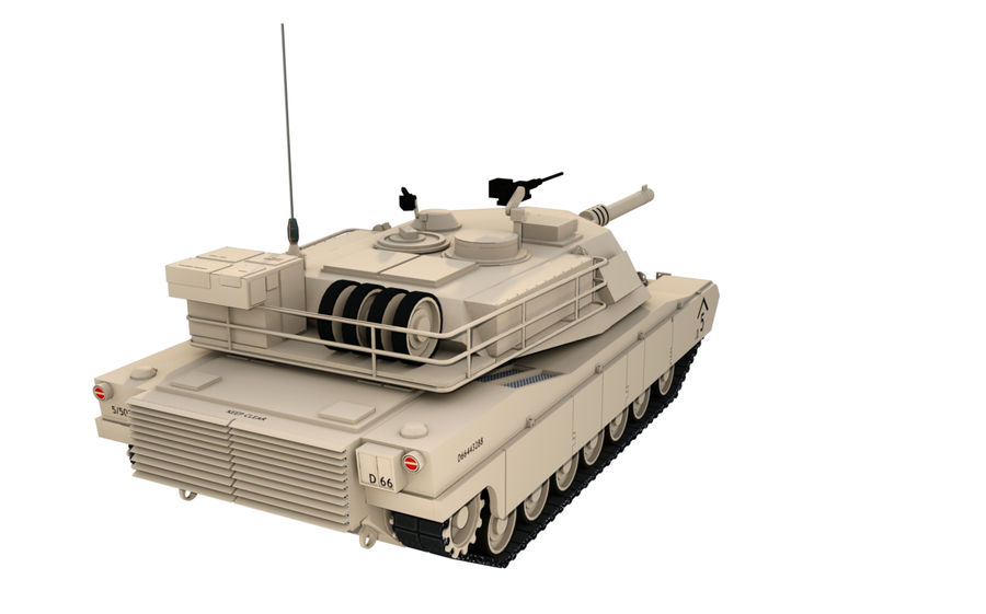M1A1 ABRAMS royalty-free 3d model - Preview no. 4