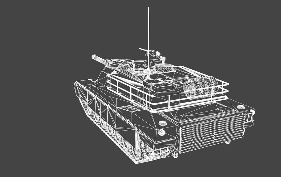 M1A1 ABRAMS royalty-free 3d model - Preview no. 11
