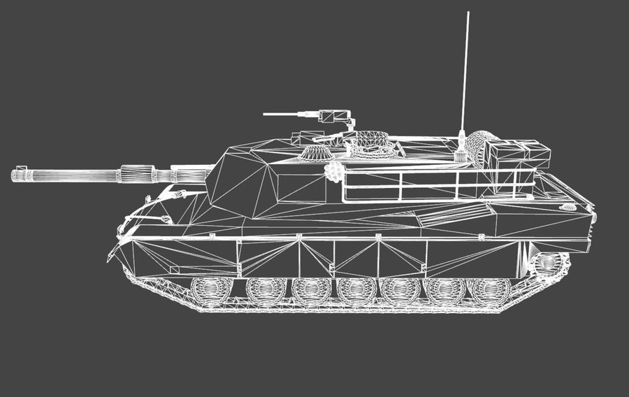 M1A1 ABRAMS royalty-free 3d model - Preview no. 10