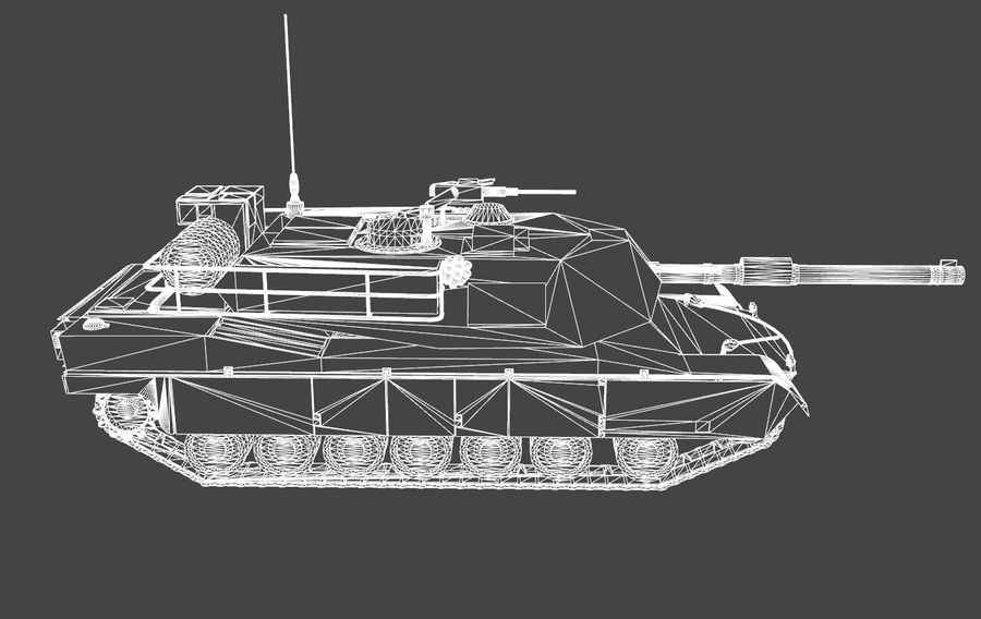 M1A1 ABRAMS royalty-free 3d model - Preview no. 9