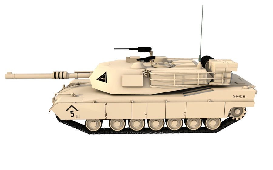 M1A1 ABRAMS royalty-free 3d model - Preview no. 2