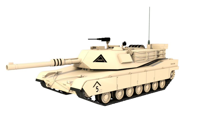 M1A1 ABRAMS royalty-free 3d model - Preview no. 1