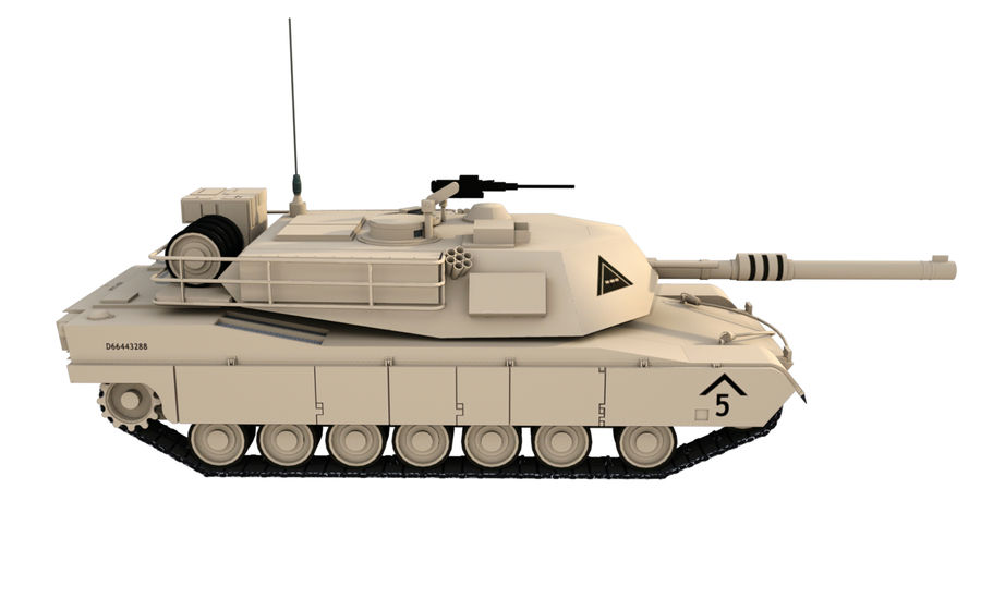 M1A1 ABRAMS royalty-free 3d model - Preview no. 5