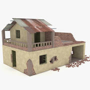 Destroyed House 3d model