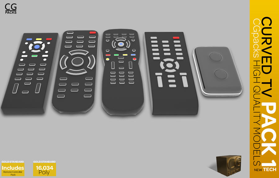 curved tv pack 1 royalty-free 3d model - Preview no. 12