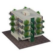 Vertical garden building 3d model