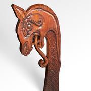 Tête de dragon du bateau viking 3d model