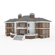 Casa de pedra real grande 3d model