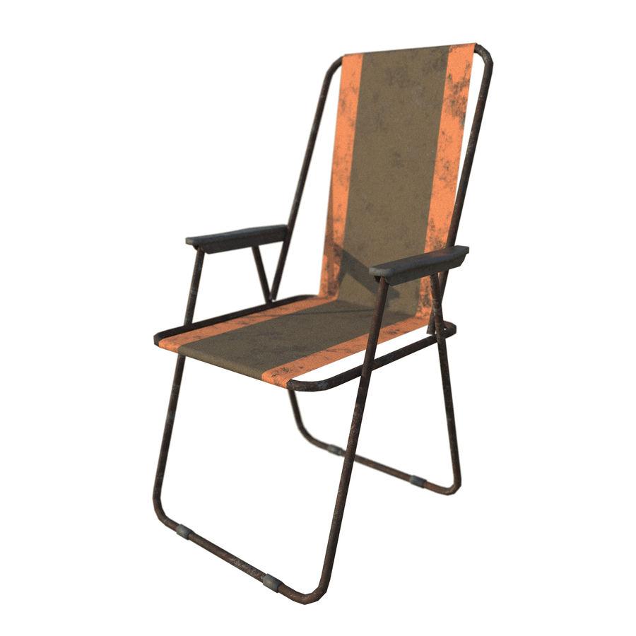 Sedia da campeggio royalty-free 3d model - Preview no. 1