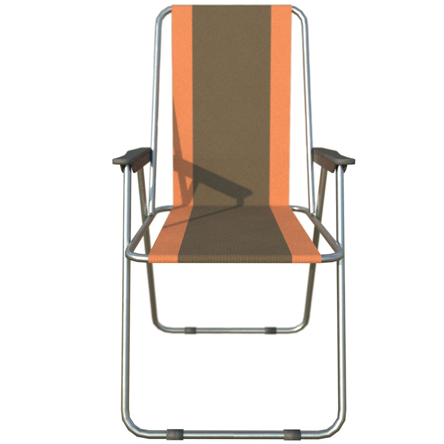 Sedia da campeggio royalty-free 3d model - Preview no. 7