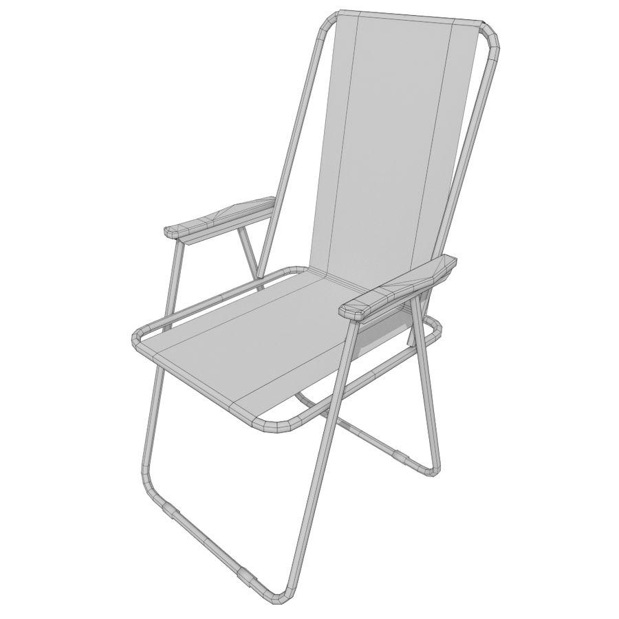 Sedia da campeggio royalty-free 3d model - Preview no. 18
