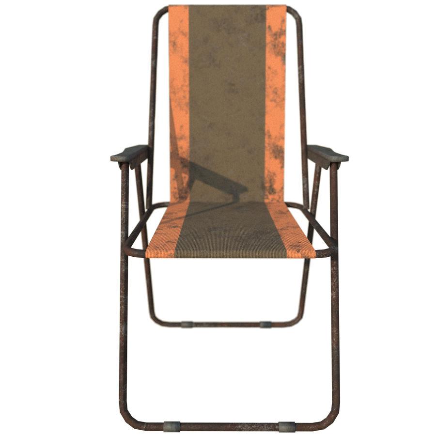 Sedia da campeggio royalty-free 3d model - Preview no. 6
