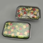 Salad packaged 3d model