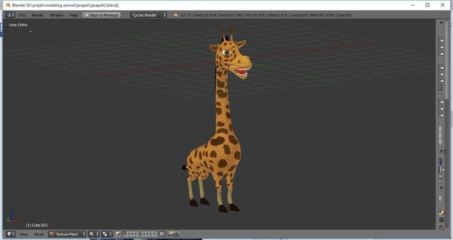 Żyrafa royalty-free 3d model - Preview no. 4