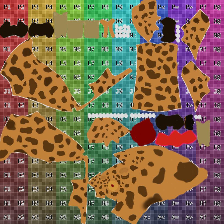 Żyrafa royalty-free 3d model - Preview no. 3