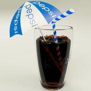 Pepsi Cup With Ice 3d model