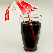Coca Cola Cup With Ice 3d model