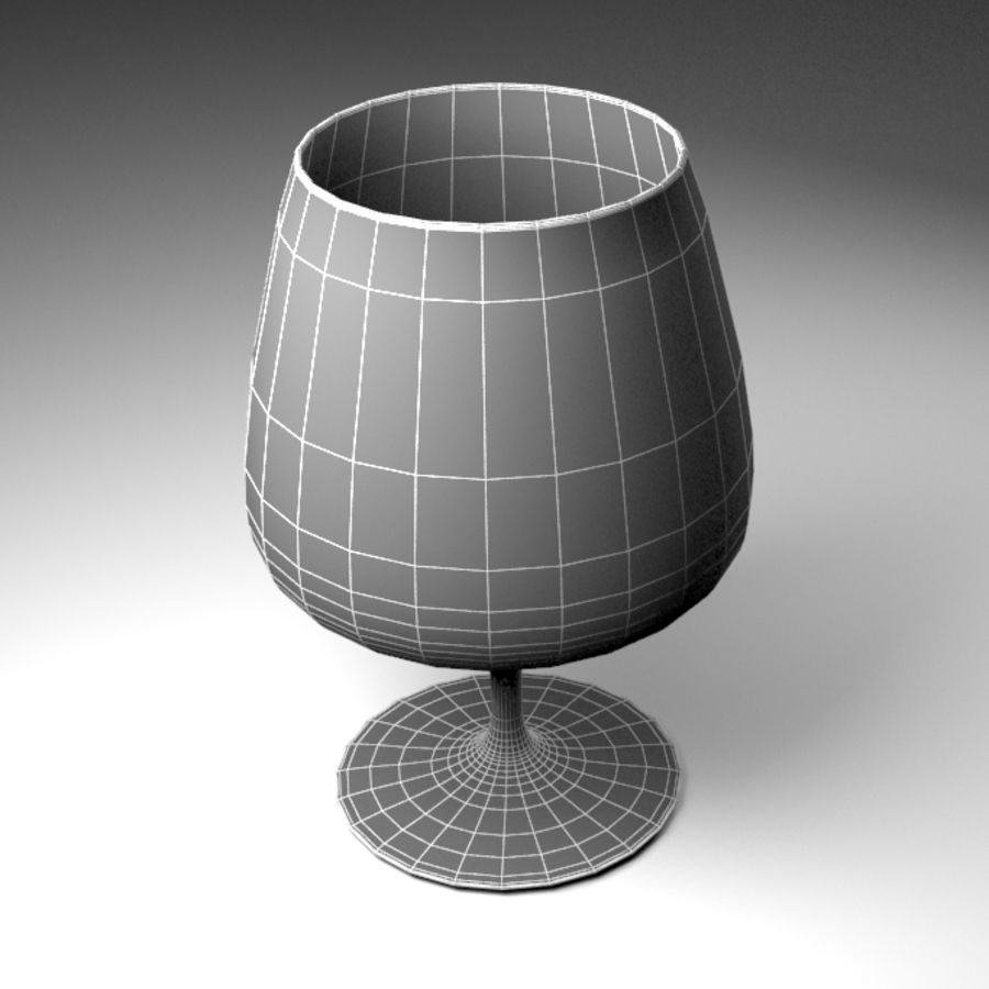 Wine Glass royalty-free 3d model - Preview no. 8