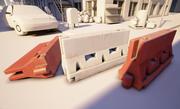 Plastic wegversperring 3d model