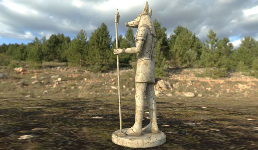 Anubis royalty-free 3d model - Preview no. 3