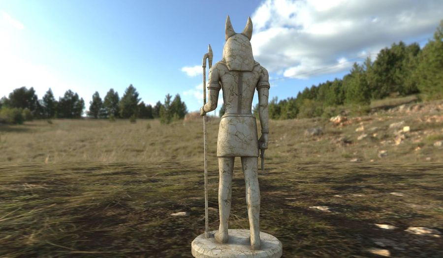 Anubis royalty-free 3d model - Preview no. 4