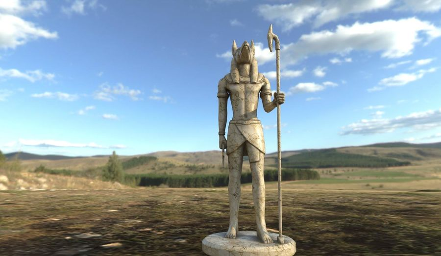 Anubis royalty-free 3d model - Preview no. 2