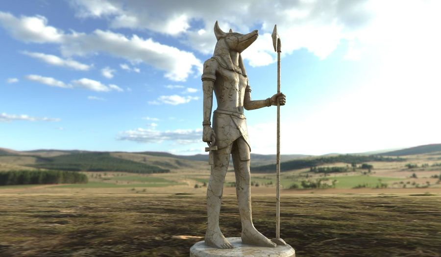 Anubis royalty-free 3d model - Preview no. 1