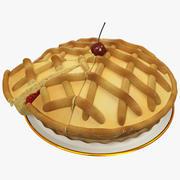 Ev yapımı vişneli pasta 3d model