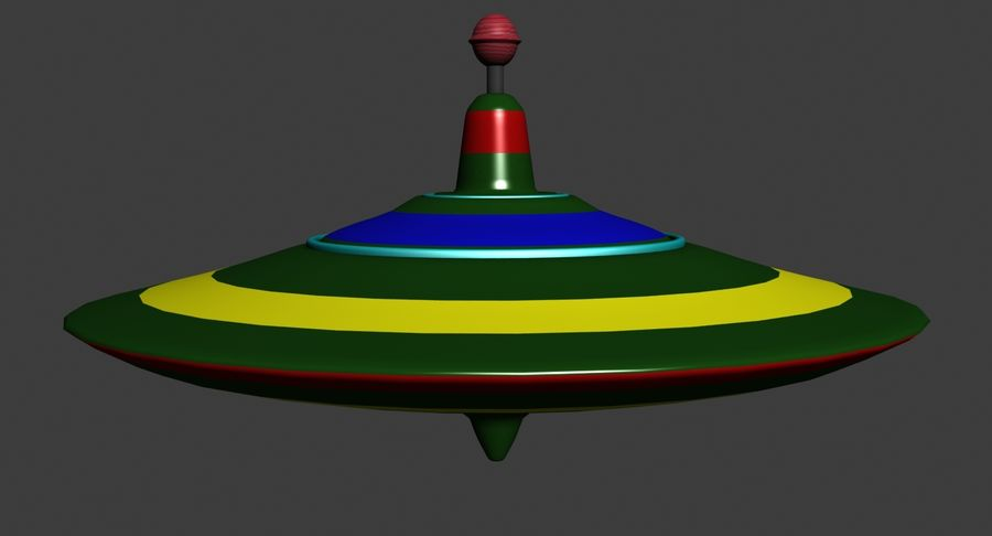 Toy Top royalty-free 3d model - Preview no. 3