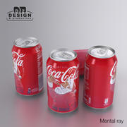 Beverage Can Coca Cola Christmas 330ml 3d model