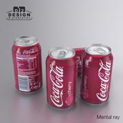 Beverage Can Coca Cola Cherry 330ml 3d model