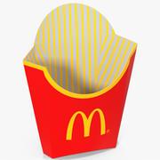 프렌치 프라이 박스 빈 맥도날드 3d model