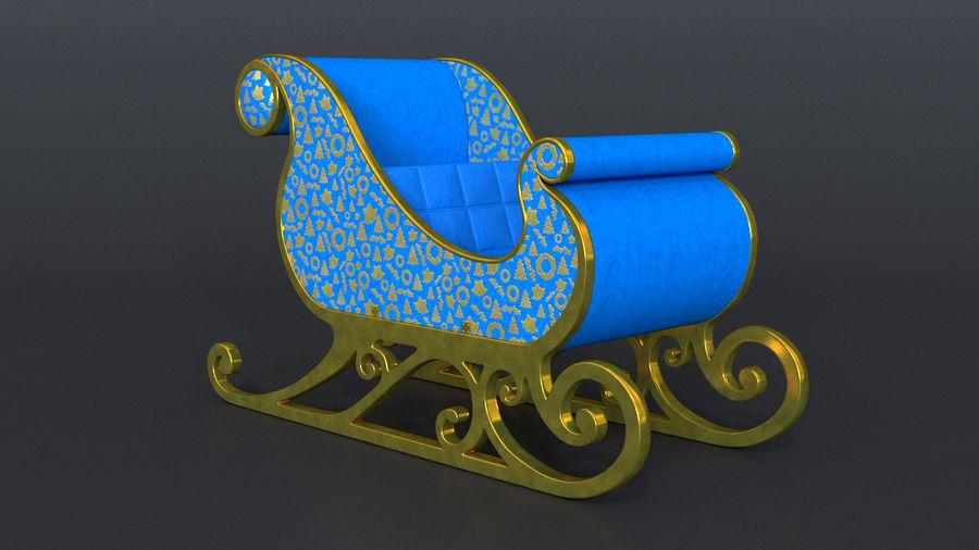 Trineo de santa royalty-free modelo 3d - Preview no. 1