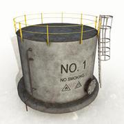 Tanque de aceite modelo 3d