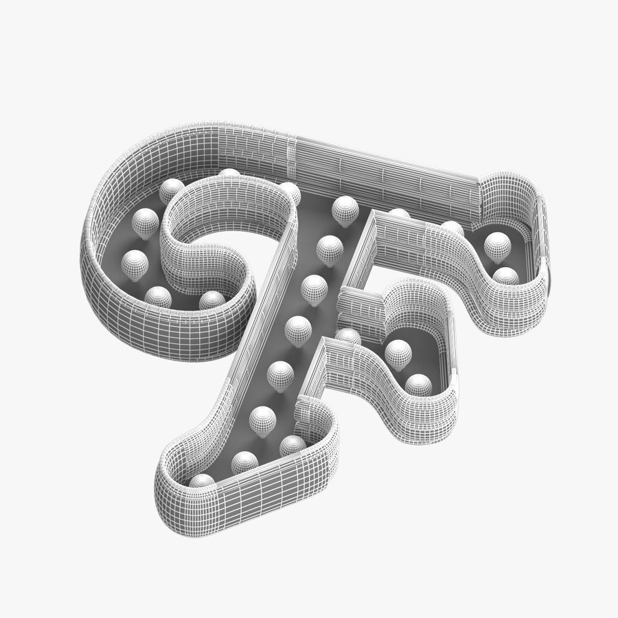 F Letter royalty-free 3d model - Preview no. 6