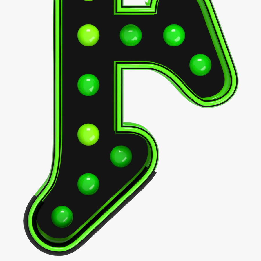 F Letter royalty-free 3d model - Preview no. 4