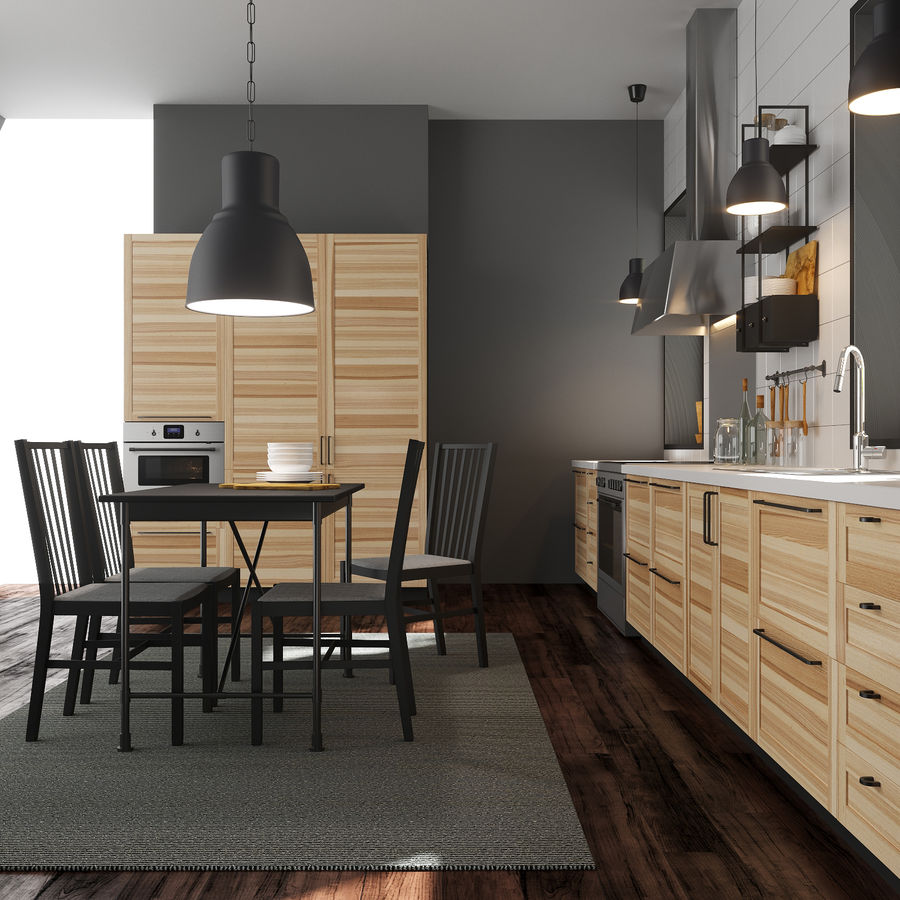 Ikea Metod Kitchen Torhamn Ash 3d Model 19 Max Unknown Fbx Free3d