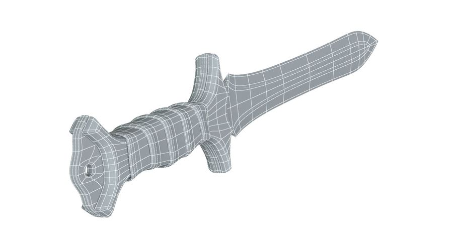 Double Edged Sword royalty-free 3d model - Preview no. 5
