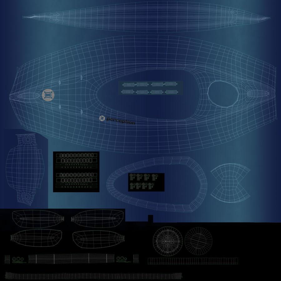 percepção de caiaque royalty-free 3d model - Preview no. 17
