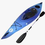 percepción del kayak modelo 3d