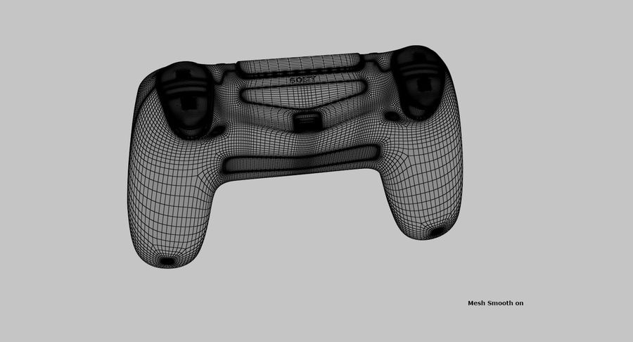 Dual Shock PS4 royalty-free 3d model - Preview no. 11