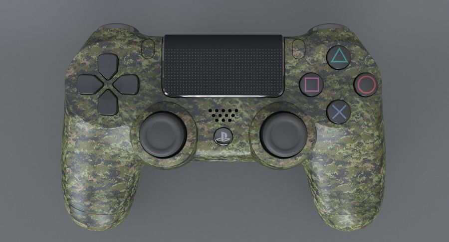 Dual Shock PS4 royalty-free 3d model - Preview no. 3
