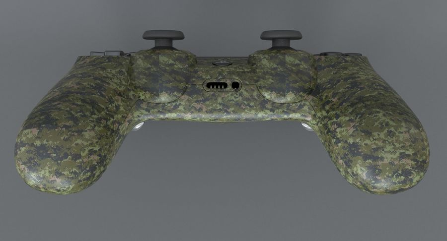 Dual Shock PS4 royalty-free 3d model - Preview no. 6